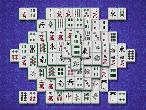 Traditionell granskad mahjong